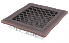 Вентиляционная решетка DECO медная патина 16х16