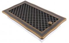 фото Вентиляционная решетка DECO золотая патина 16х32 жалюзи