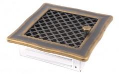 фото Вентиляционная решетка DECO золотая патина 16х16 жалюзи
