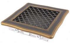Вентиляционная решетка DECO золотая патина 16х16