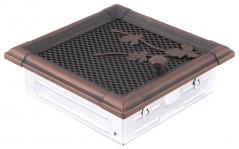 Вентиляционная решетка RETRO медная патина 16х16 жалюзи