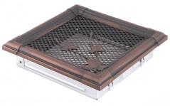 Вентиляционная решетка RETRO медная патина 16х16