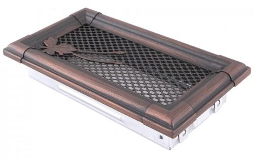 Вентиляционная решетка RETRO медная патина 10х20