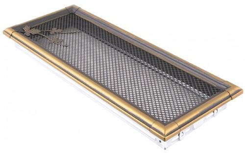 Вентиляционная решетка RETRO золотая патина 16х45