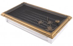 Вентиляционная решетка RETRO золотая патина 16х32 жалюзи