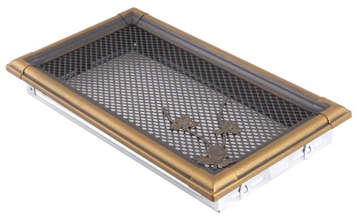 Вентиляционная решетка RETRO золотая патина 16х32