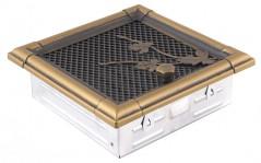 Вентиляционная решетка RETRO золотая патина 16х16 жалюзи