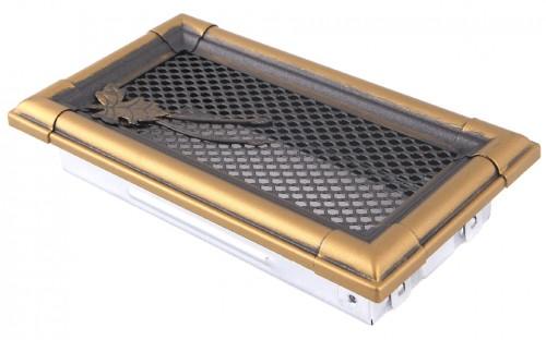Вентиляционная решетка RETRO золотая патина 10х20