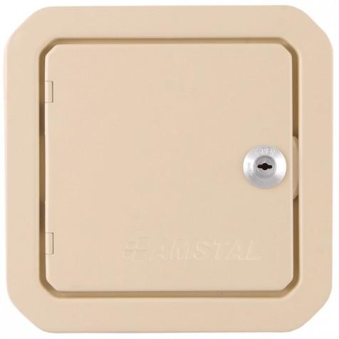 Дверка ревизионная кремовая 140х140 мм