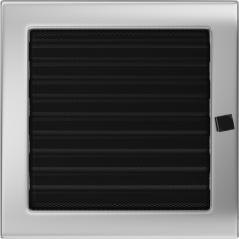 фото Вентиляционная решетка KRATKI никель 22Х22 жалюзи