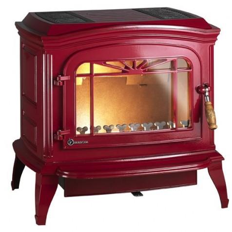 Чугунная печь Invicta BRADFORD красная эмаль