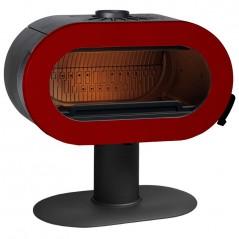 Чугунная печь INVICTA FIFTY красная эмаль