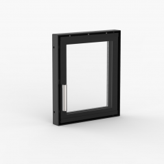 Дверца для камина OGNEVODA 300х350 мм, ручка Nero