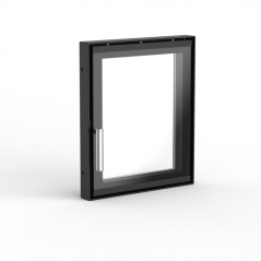 Дверца для камина OGNEVODA 320х380 мм, ручка Nero