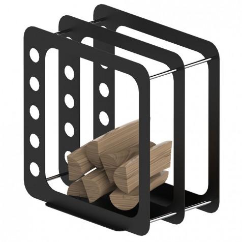 Корзина для дров К3 черный мат