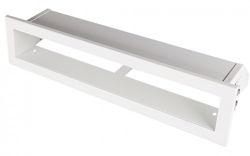 Вентиляционная решетка Открытая белая 40х6 см