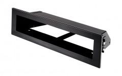 фото Вентиляционная решетка Открытая черная матовая 20х6 см