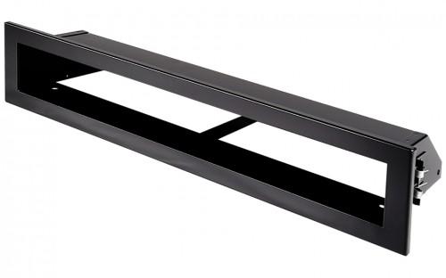 Вентиляционная решетка Открытая черная матовая 40х6 см