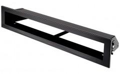 фото Вентиляционная решетка Открытая черная матовая 40х6 см