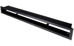 фото Вентиляционная решетка Открытая черная матовая 80х6 см