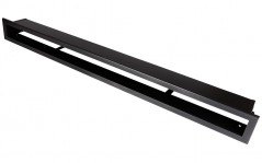 фото Вентиляционная решетка Открытая черная матовая 100х6 см
