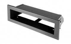 фото Вентиляционная решетка Открытая графит 20х6 см