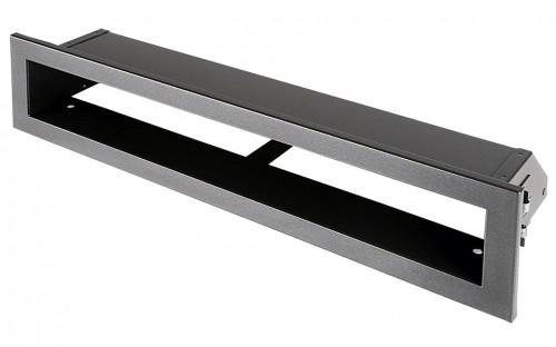 Вентиляционная решетка Открытая графит 40х6 см