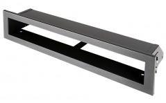 фото Вентиляционная решетка Открытая графит 40х6 см