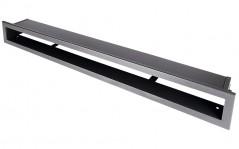 Вентиляционная решетка Открытая графит 80х6 см