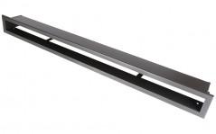 Вентиляционная решетка Открытая графит 100х6 см