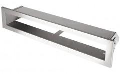 Вентиляционная решетка Открытая нержавейка 40х6 см