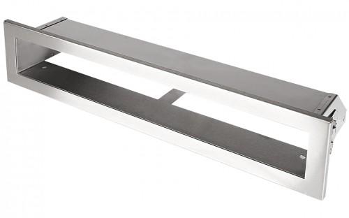 Вентиляционная решетка Открытая нержавейка 60х6 см