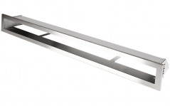 Вентиляционная решетка Открытая нержавейка 80х6 см