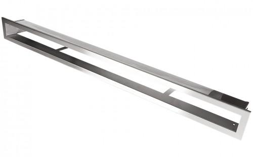 Вентиляционная решетка Открытая нержавейка 100х6 см