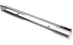 фото Вентиляционная решетка Открытая нержавейка 100х6 см