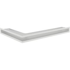 Вентиляционная решетка KRATKI LUFT белая правая угловая 54,7x76,6x6