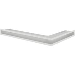Вентиляционная решетка KRATKI LUFT белая левая угловая 60x40x6
