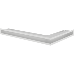 Вентиляционная решетка KRATKI LUFT белая левая угловая 76,6x54,7x6