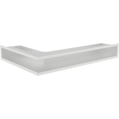 Вентиляционная решетка KRATKI LUFT белая правая угловая 54,7x76,6x9
