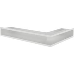 Вентиляционная решетка KRATKI LUFT белая левая угловая 76,6x54,7x9