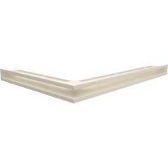 Вентиляционная решетка KRATKI LUFT кремовая правая угловая 54,7x76,6x6