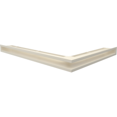 Вентиляционная решетка KRATKI LUFT кремовая левая угловая 76,6x54,7x6