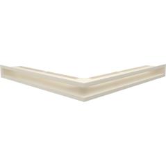 Вентиляционная решетка KRATKI LUFT кремовая угловая  56x56x6