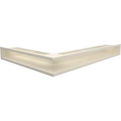 Вентиляционная решетка KRATKI LUFT кремовая правая угловая 54,7x76,6x9