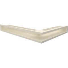 Вентиляционная решетка KRATKI LUFT кремовая левая угловая 76,6x54,7x9