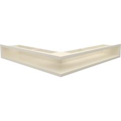 Вентиляционная решетка KRATKI LUFT кремовая угловая 56x56x9
