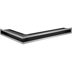 Вентиляционная решетка KRATKI LUFT нержавеющая сталь правая угловая 40x60x6