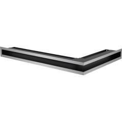 Вентиляционная решетка KRATKI LUFT нержавеющая сталь левая угловая 60x40x6