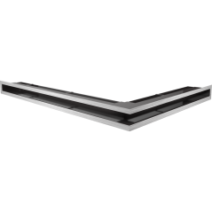 Вентиляционная решетка KRATKI LUFT нержавеющая сталь левая угловая 76,6x54,7x6