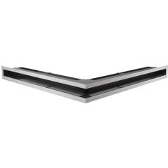 Вентиляционная решетка KRATKI LUFT нержавеющая сталь угловая 56x56x6